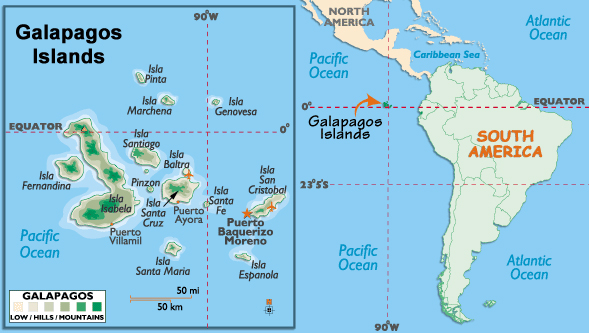 World Regional Geography The Collaboratory - Map where is the galapagos islands relative to the us